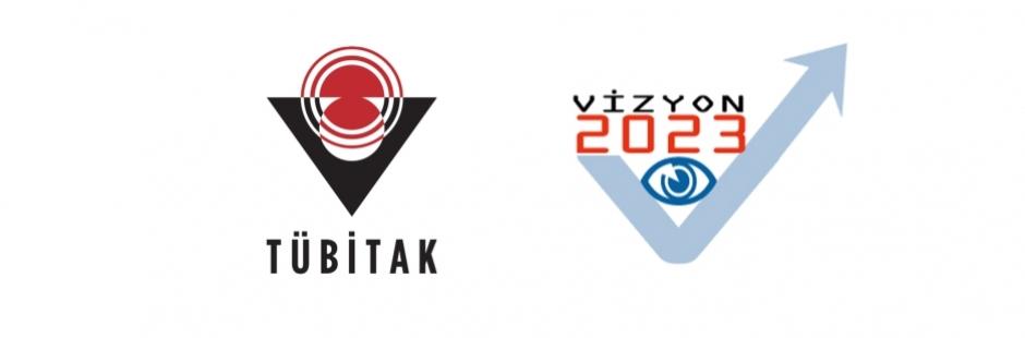 TÜBİTAK logosu ve Vizyon 2023 logosu